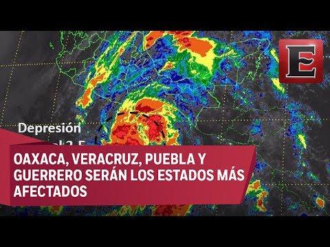 Depresión tropical 2-E causará lluvias en la costa sur del Pacífico mexicano
