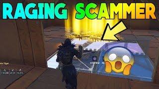 RAGING SCAMMER SCAMMED HIMSELF (Scammer Gets Scammed) Fortnite Save The World