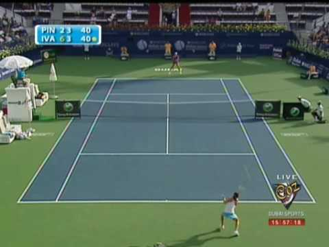 Ana Ivanovic & Camille Pin WTA Dubai 2009
