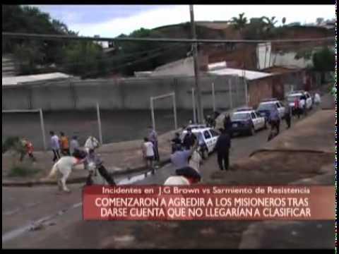 Terribles incidentes cancha de Brown VS Sarmiento de Resistencia