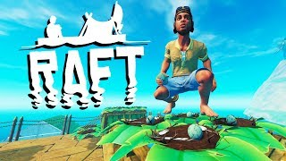EPIC EGG FARM for COOKING and GIANT ISLAND! - Raft Gameplay