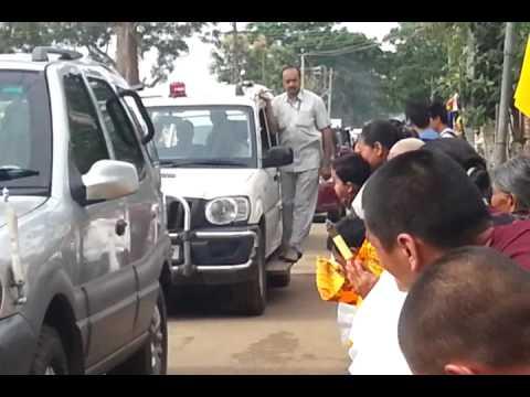 Tibet hunsur rabgyaling. 14/7/2013 H H DALAI LAMA IN RABGYALING ,