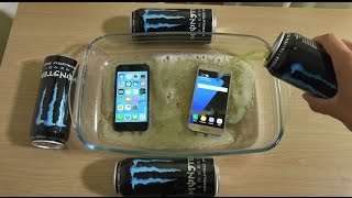 iPhone 7 vs Samsung Galaxy S7 - Monster Soda Test! (4K)