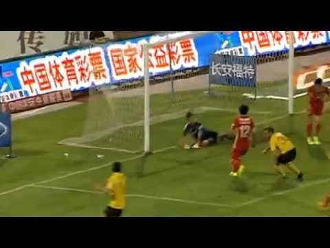 Alberto Gilardino Goal   Changchun Yatai vs  Guangzhou 1 1 2014