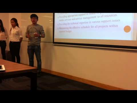 Finance and Administration department presentation - Bcom s1,2015