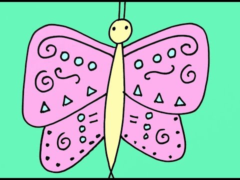 How to Draw a Butterfly Step-By-Step Drawing Lesson for Kids