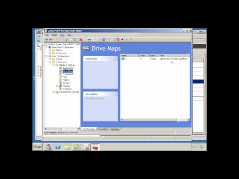 Map a Network Drive to a Shared Folder in Windows Server 2008