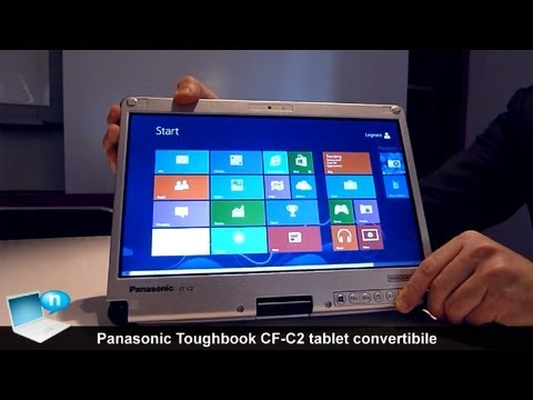 Panasonic Toughbook CF-C2 tablet convertibile con Windows 8