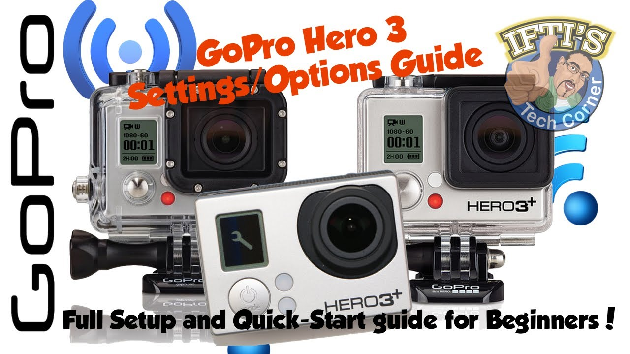 gopro hero 3 3 camera options guide for beginners. Black Bedroom Furniture Sets. Home Design Ideas