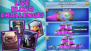 CAN WE WIN 250,000+ GOLD?! | LIVE ELIXIR CHALLENGE! | Clash Royale