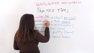 English Grammar Using 34 Who What And Which 34