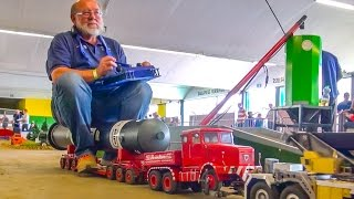 RC POWER EXTREME! R/C Truck carries a man with 110 kg +!!!