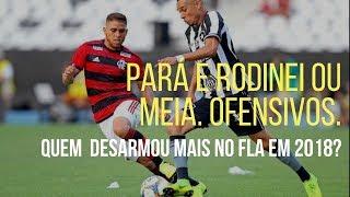 Meias e atacantes do Flamengo desarmaram mais do que Pará, Rodinei e zagueiros em 2018