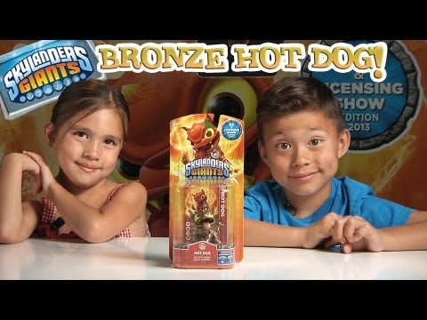RARE BRONZE Color Shift Metallic HOT DOG - E3 Exculsive Skylander Giants + More E3 Treasures!