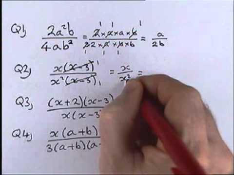 How To Do Algebra  Part 1 7   Simplifying Algebraic Fractions 1 video