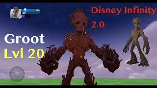 Disney Infinity 2.0 Groot Lvl 20 Skill Showcase