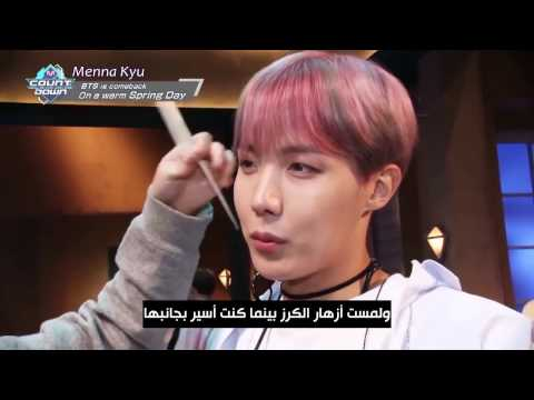 (Arabic Sub) M COUNTDOWN - Behind the Scenes - BTS ′Spring Day′ _ مترجم