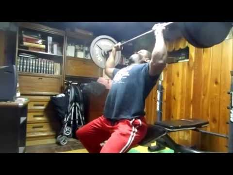 Proudly Sponsored By: JACO Athletics 225 pound seated military press for 2 reps