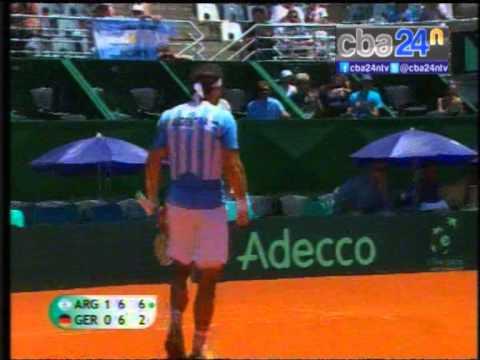 Juan Mónaco se impuso por 6 4 y 7 6 7 2 frente a Tobías Kamke por la primera ronda del Grupo Mundial de la Copa Davis