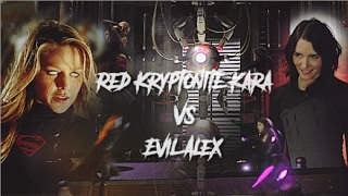 Red Kryptonite Kara vs Evil Alex || DEVIL WITHIN