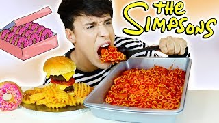 i only ate THE SIMPSONS FOODS for 24 hours!!!