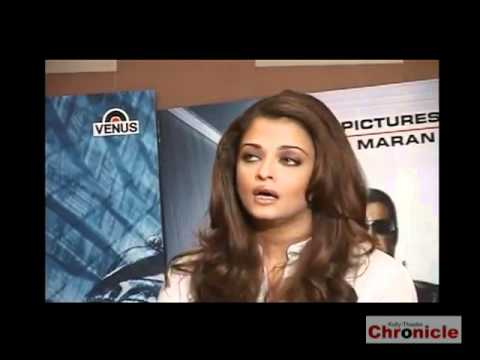 Aishwarya Rai,Shankar At Robot Press meet