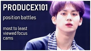 PRODUCE X 101 - POSITION BATTLES Focus Cams - Ranked by Views (YouTube + Naver Views)