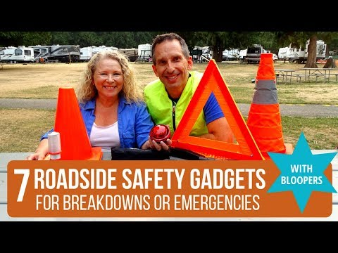 7 Roadside Safety Gadgets + Free SAFETY CHECKLIST + BLOOPERS!