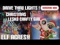 Elf Acres in San Antonio Tx ! Christmas light drive thru ! Must see !! #elfacres #christmaslights