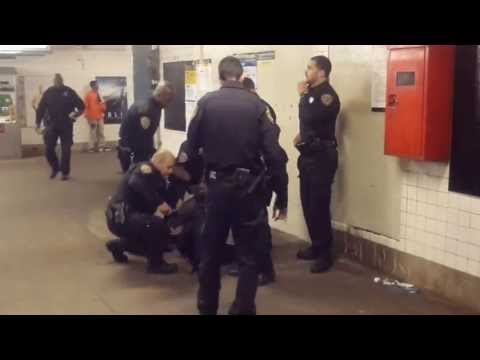 Harlem: 26 cops arrest one guy, slam him to ground, then stop legal filming