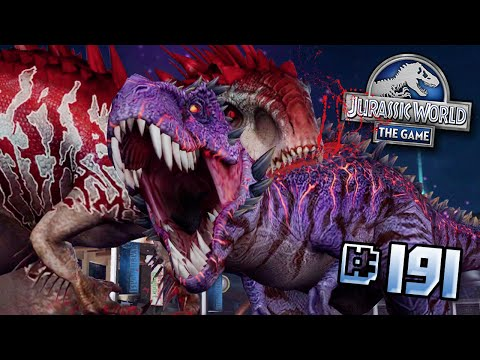 MY STRONGEST TEAM TAKES ON OMEGA!! ft. INDOMINUS LVL 40!! || Jurassic World - The Game - Ep191 HD