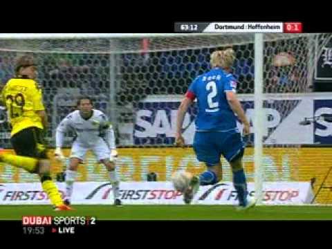 Hoffenheim    1  - 0    Borussia dortmund  Ibisevic