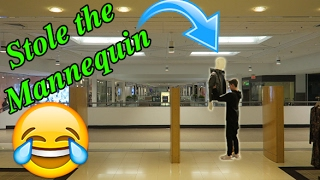STEALING MANNEQUINS FROM STORES PRANK! (Mall Edition)