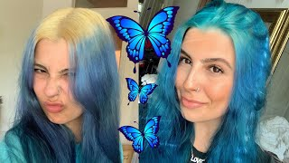 HOW TO BLEACH YOUR OWN HAIR AND HOW TO DYE YOUR HAIR BLUE