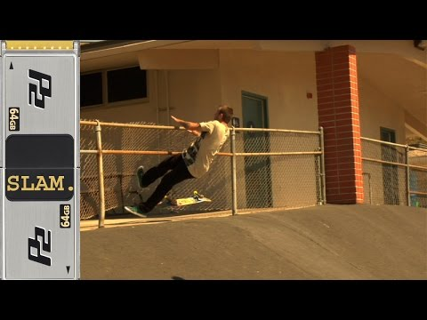 Skater Breaks Fence Classic Skateboard Slam #140