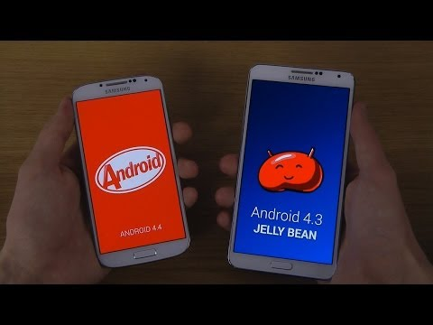 Samsung Galaxy S4 Android 4.4 KitKat vs. Samsung Galaxy Note 3 Android 4.3 - Which Is Faster?