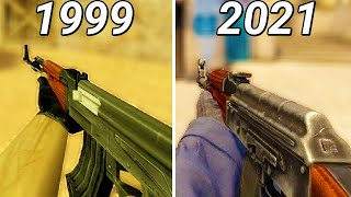 Evolution of AK-47 in Counter-Strike Games (1999-2018)