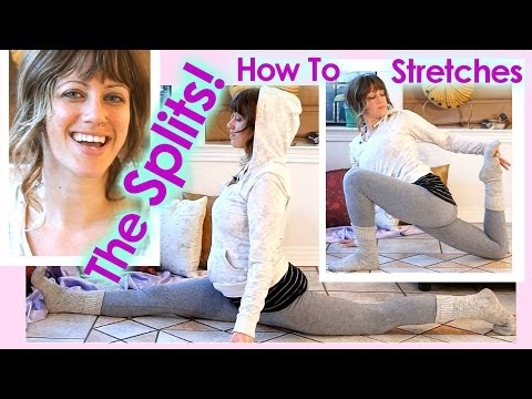 How To Do The Splits Stretches! Flexibility Tutorial & Workout For Cheerleading, Ballet, Yoga