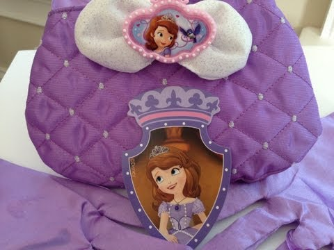SOFIA THE FIRST Royal Purse and Gloves Unboxing and Review