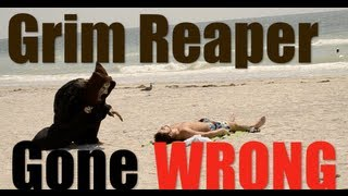 GRIM REAPER SCARE PRANK GONE WRONG!! COPS CALLED AGAIN! Hilarious Public Prank