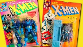 Marvel X-Men Cartoon Toys | Apocalypse 2nd Edition | Iceman Super Ice Slide Toy Biz