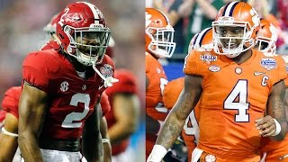 Athletes Make Predictions for Alabama vs Clemson National Championship Game