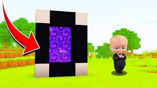 Minecraft : WE FOUND THE BOSSBABYS PORTAL!  (Ps3/Xbox360/PS4/XboxOne/PE/MCPE)