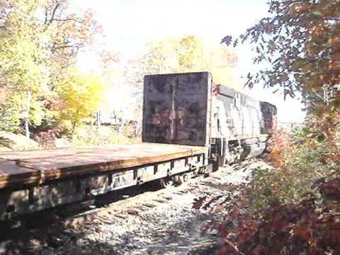 Maine Eastern RR ex-CN Zebra Stripes! MLW M420W #3573 Video
