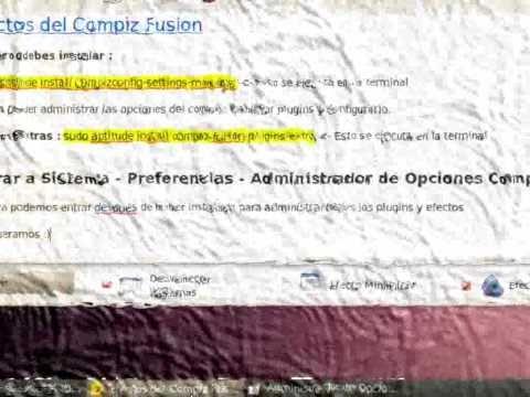 Efectos de Compiz Fusion Ubuntu 10.04 Lucid Lynx
