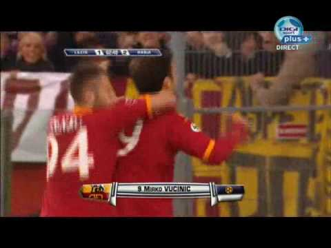 Lazio vs Roma (18 april 2010) - Mirko Vucinic Goal (1-1 , 1-2)