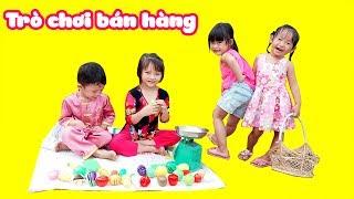 Trò chơi bán đồ hàng rau củ quả với bộ đồ chơi cắt trái cây 🍉 fruit, vegetable names 🍑 SOYBEAN TV