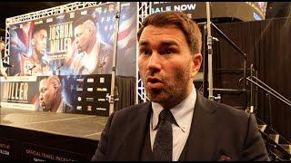 EDDIE HEARN RAW IN NEW YORK! -ON JOSHUA-MILLER / FURY ESPN DEAL / WHYTE / WILDER COMMENTS / SAUNDERS