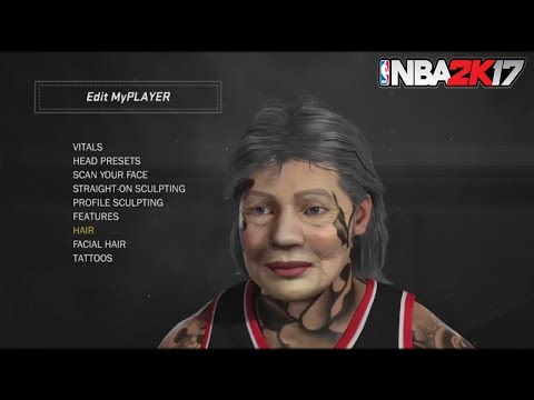 NBA 2K17 NEW GRANDMA FACE SCAN GLITCH TUTORIAL!| OLD LADY + MYPLAYER AT MYPARK!| TAZ FACE GLITCH!