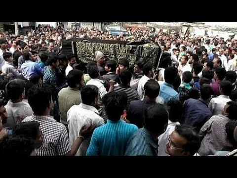 Live Tadfeen e Janaza of Late Maulana Athar Abbas Rizvi Death Body  12/09/2017